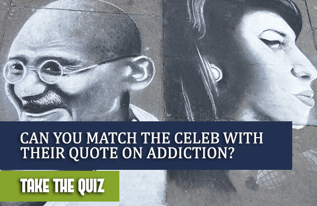 Can You Match the Celeb with Their Quote on Addiction?